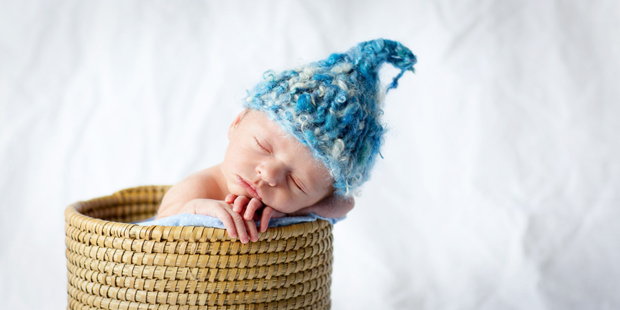 Baby with Knit cap