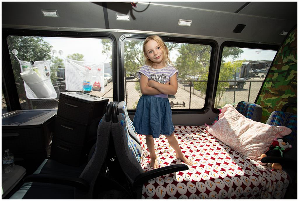 bed for child in a bus