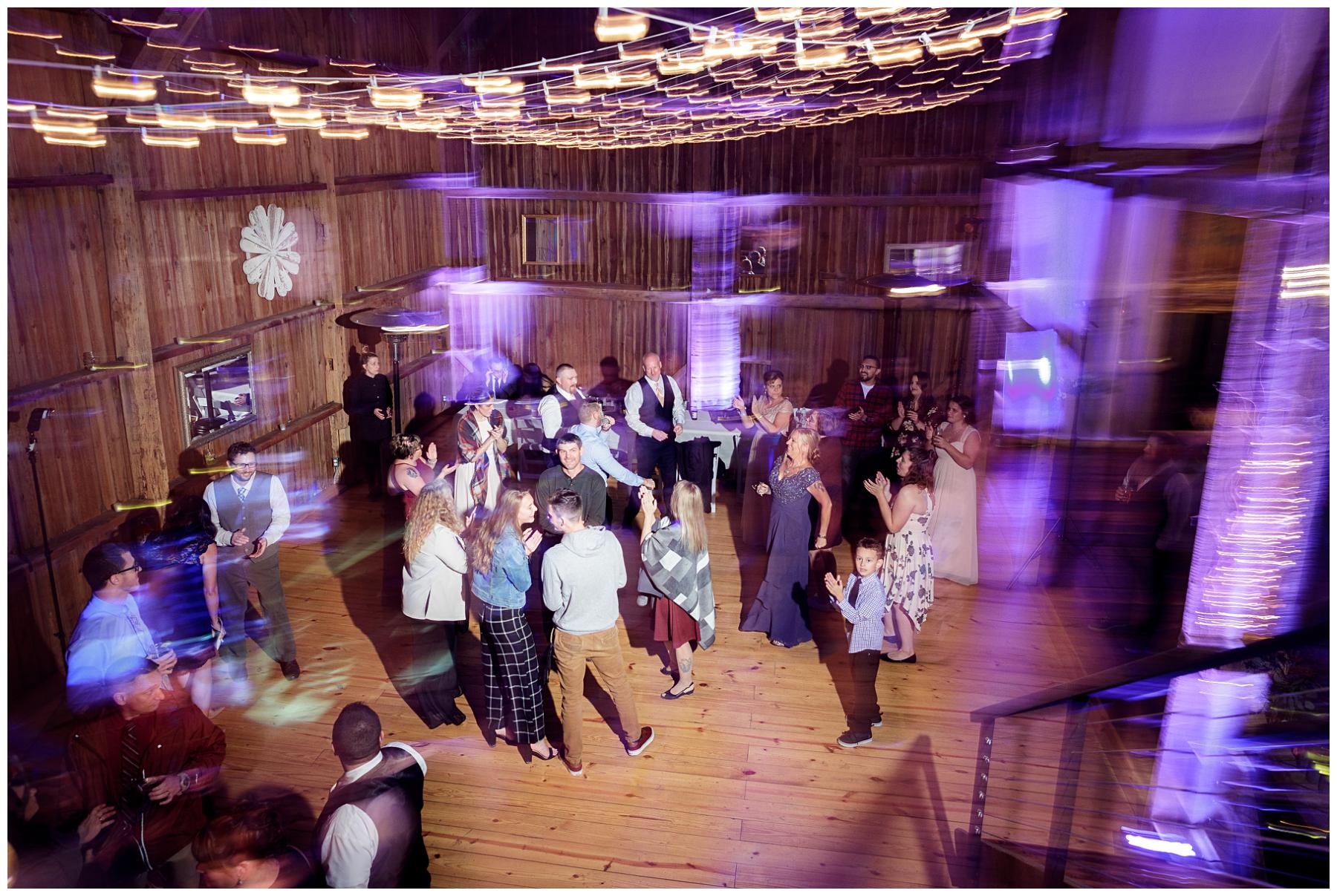 barn swallow farm reception inside barn